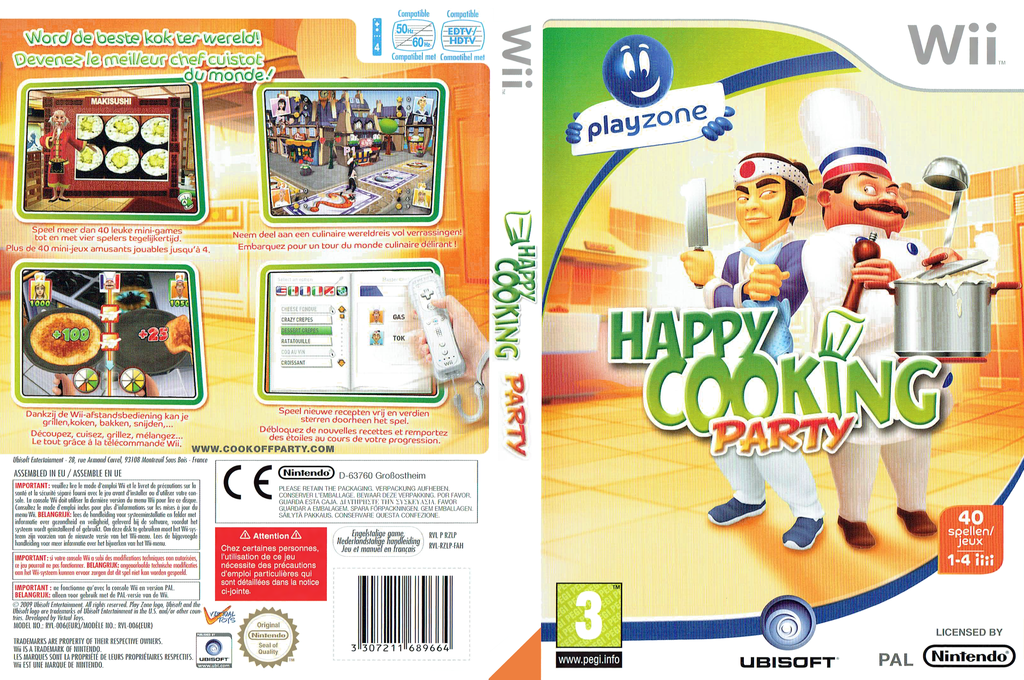 Happy Cooking Party Wii coverfullHQ (RZLP41)
