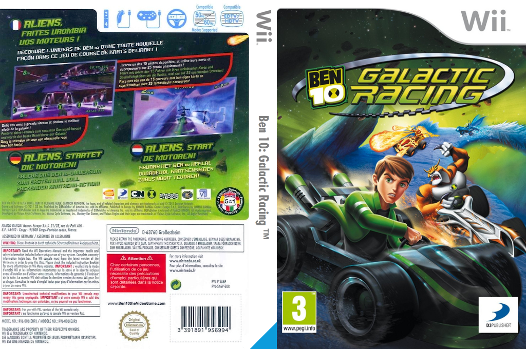 Ben 10: Galactic Racing Wii coverfullHQ (SA6PAF)