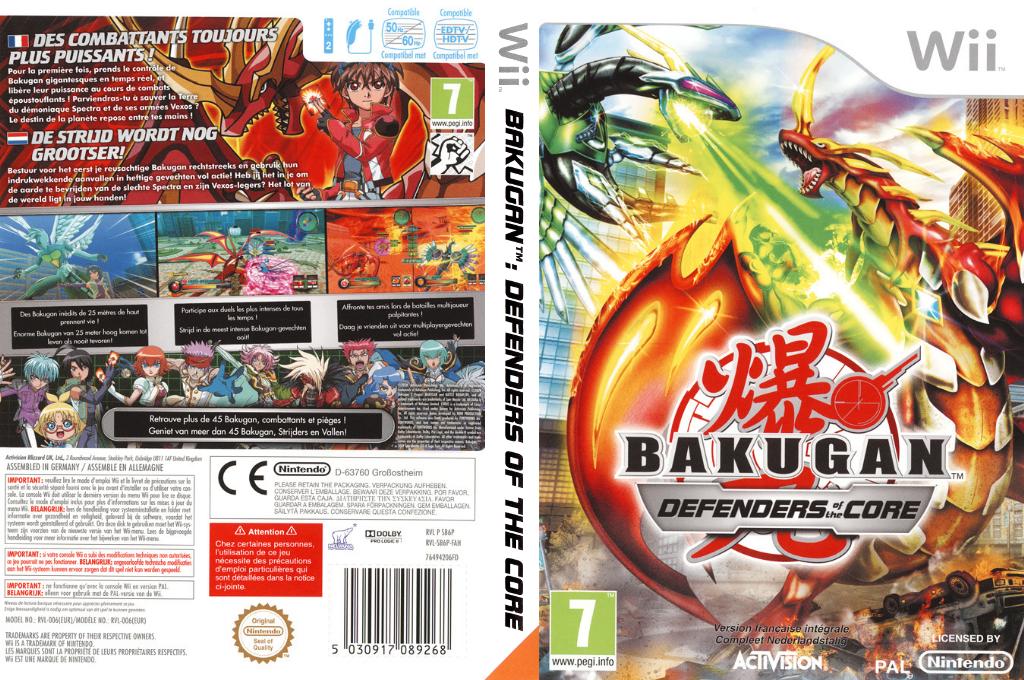 Bakugan Battle Brawlers: Defenders of the Core Wii coverfullHQ (SB6P52)