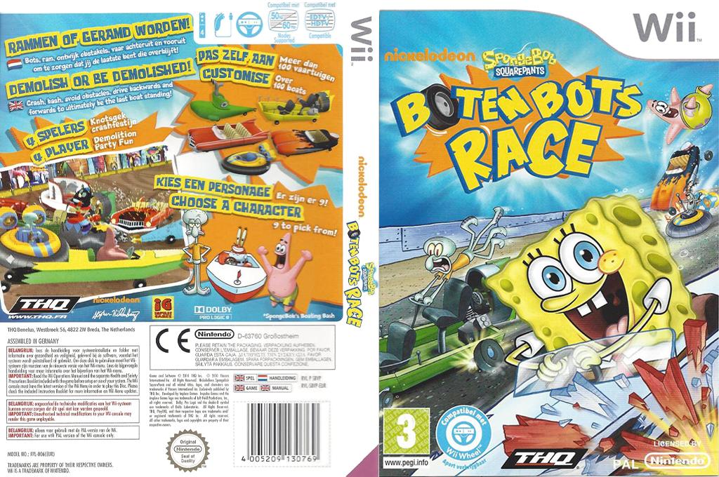 SpongeBob Squarepants: Boten Bots Race Wii coverfullHQ (SBVP78)