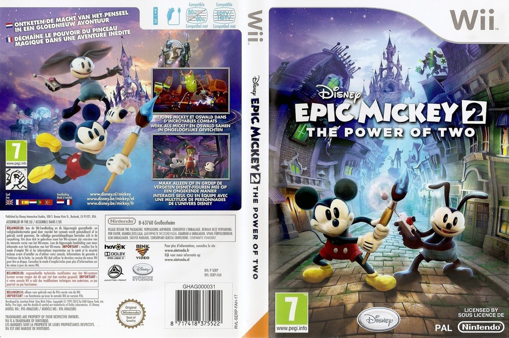 Disney Epic Mickey 2: The Power of 2 Wii coverfullHQ (SERP4Q)