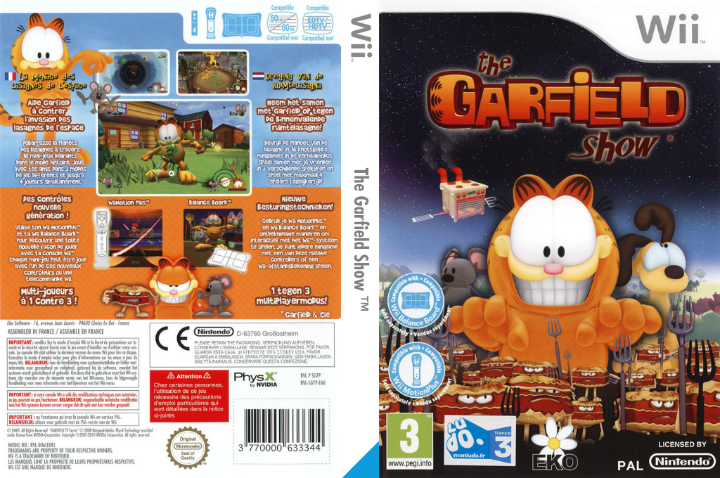 The Garfield Show: Threat of the Space Lasagna Wii coverfullHQ (SG7PVL)