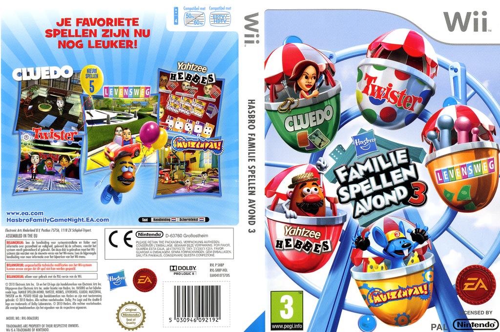 Hasbro: Familie Spellen Avond 3 Wii coverfullHQ (SHBP69)