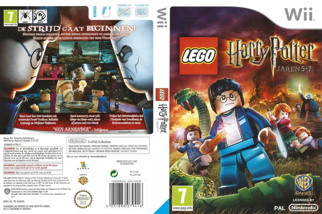 LEGO Harry Potter: Jaren 5-7 Wii coverfullHQ (SLHPWR)