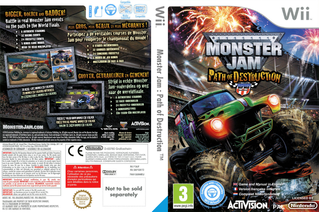 Monster Jam:Path of Destruction Wii coverfullHQ (SMJP52)