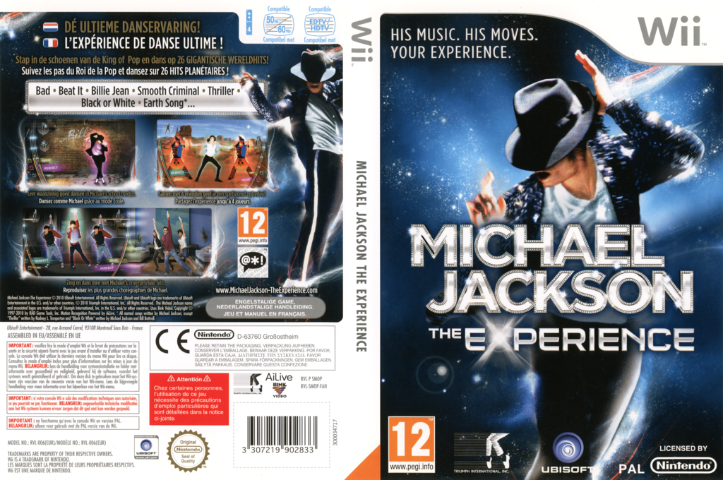 Michael Jackson: The Experience Wii coverfullHQ (SMOP41)
