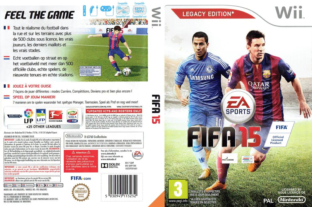 FIFA 15 - Legacy Edition Wii coverfullHQ (SQVP69)