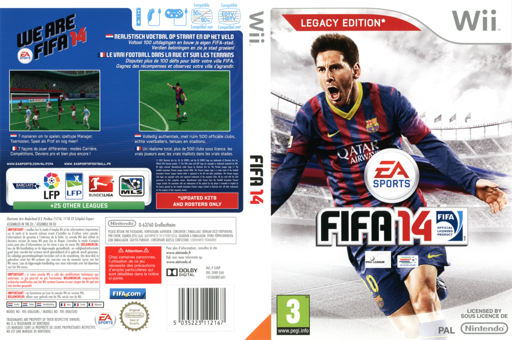 FIFA 14 - Legacy Edition Wii coverfullHQ (SVHP69)
