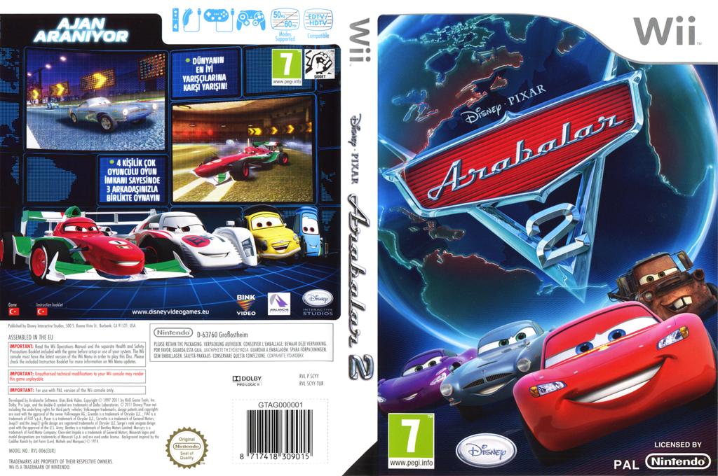 Arabalar 2 Wii coverfullHQ (SCYY4Q)