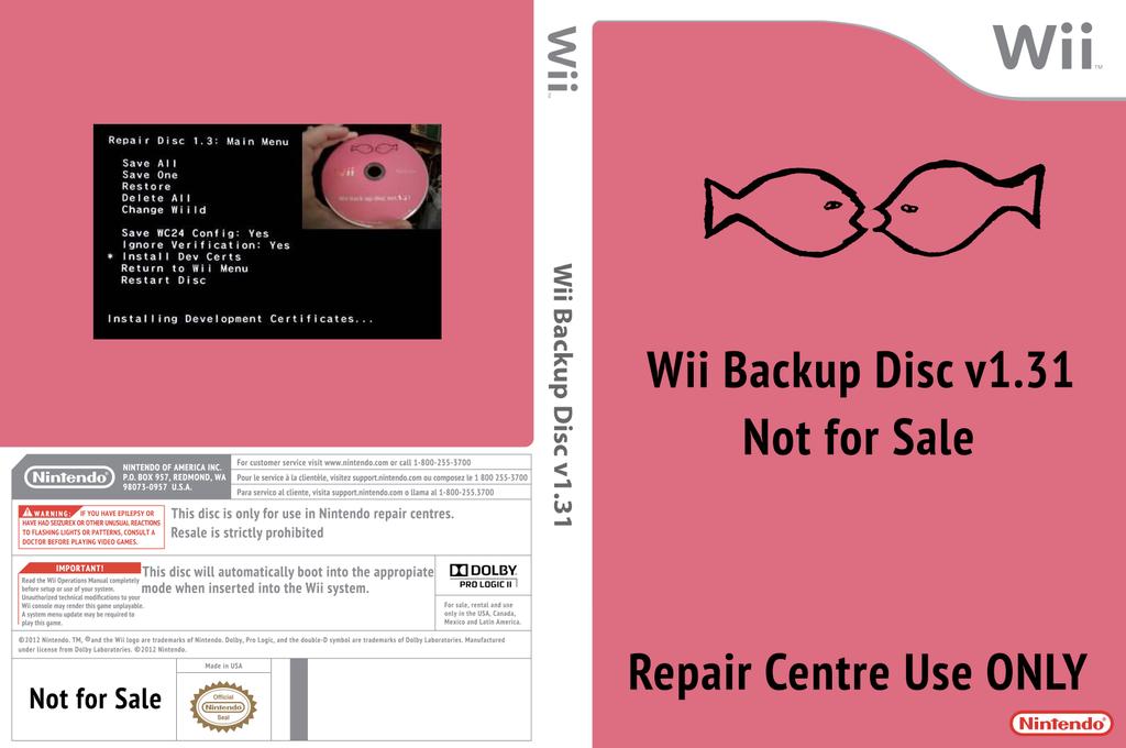 Wii Backup Disc v1.31 Wii coverfullHQ (410E01)