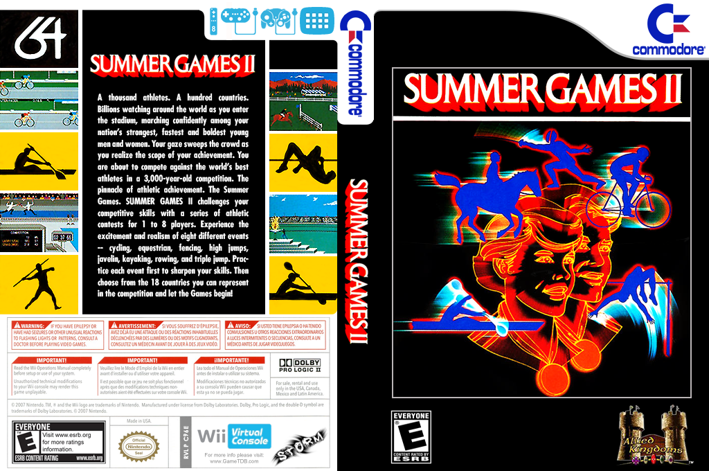 Summer Games II Wii coverfullHQ (C96E)