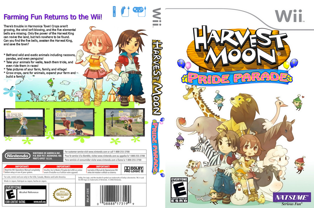 Harvest Moon: Pride Parade Wii coverfullHQ (CBIEE9)