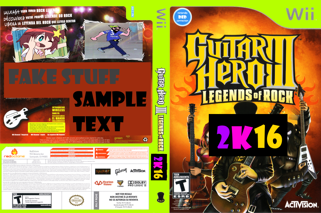 Guitar Hero 2K16 (Custom) Wii coverfullHQ (CGHE52)