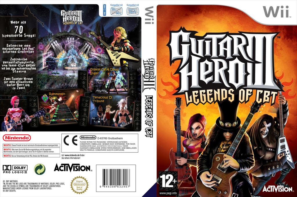 Guitar Hero III Custom : CBT Edition Wii coverfullHQ (CGHECB)