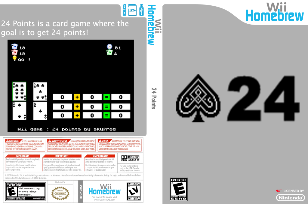 24 Points Wii coverfullHQ (D24A)