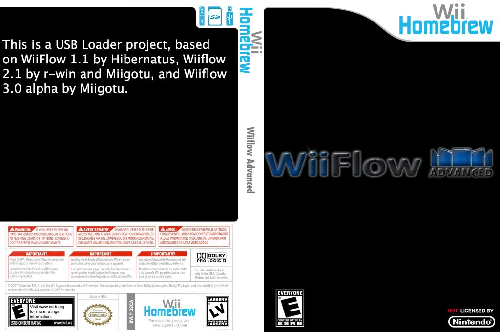 WiiFlow Advanced Wii coverfullHQ (D2CA)