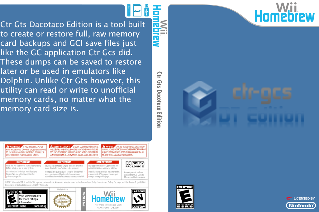 Ctr Gts DacoTaco Edition Wii coverfullHQ (D39A)