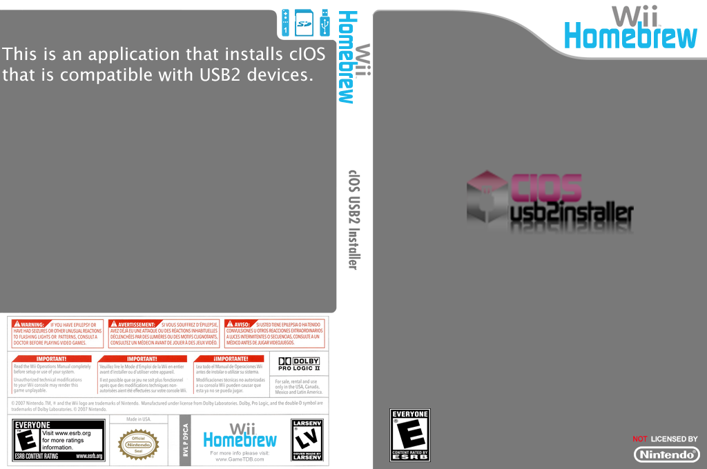 cIOS USB 2 Installer Wii coverfullHQ (D3OA)