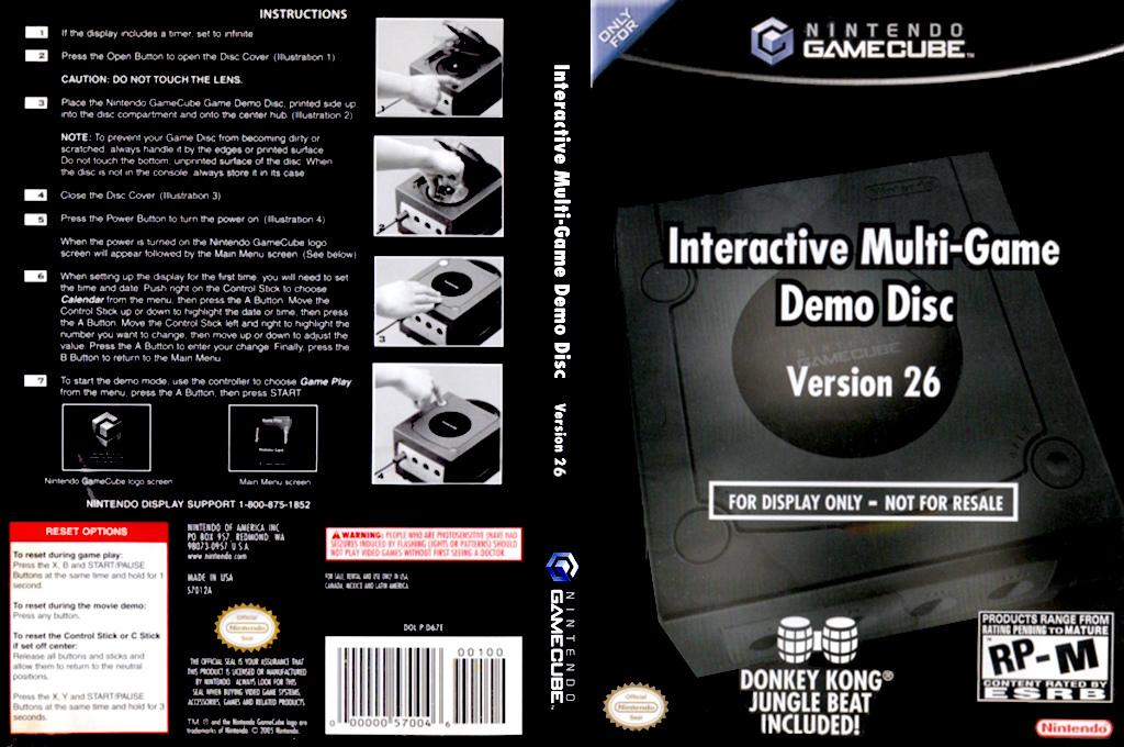 Interactive Multi-Game Demo Disc - Version 26 Wii coverfullHQ (D67E01)