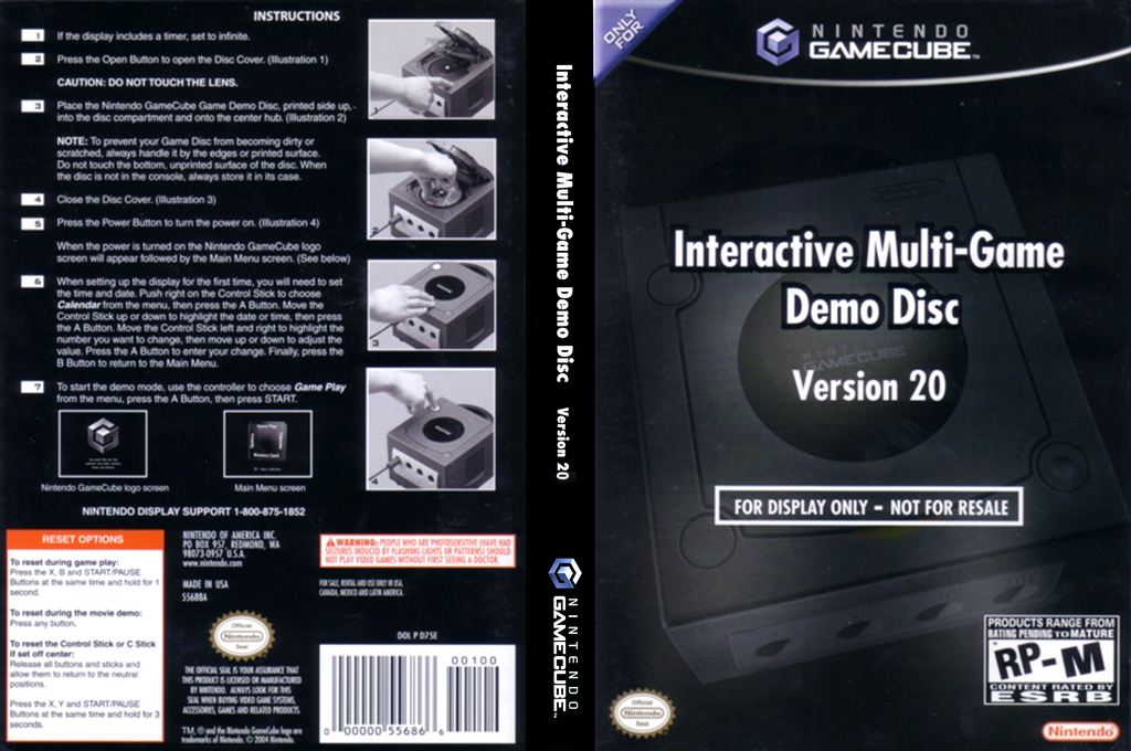 Interactive Multi-Game Demo Disc - Version 20 Wii coverfullHQ (D75E01)
