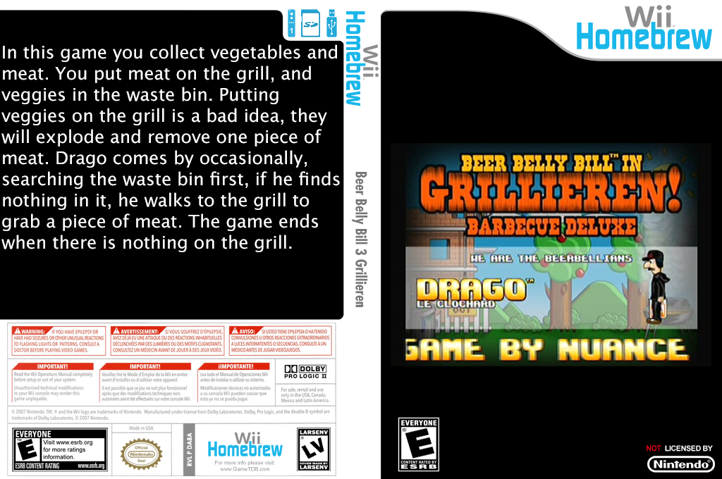 Beer Belly Bill 3 Grillieren Wii coverfullHQ (DA8A)