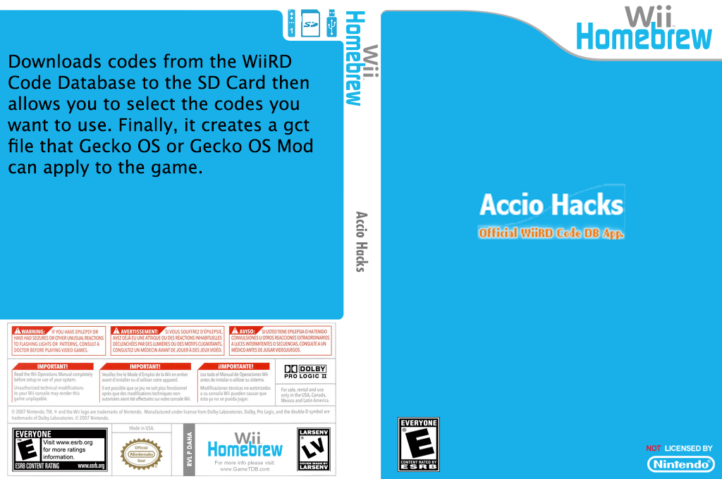 Accio Hacks Wii coverfullHQ (DAHA)