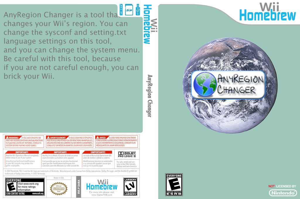 Anyregion Changer Wii coverfullHQ (DARA)