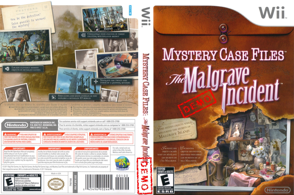 Mystery Case Files: The Malgrave Incident (Demo) Wii coverfullHQ (DAVE01)