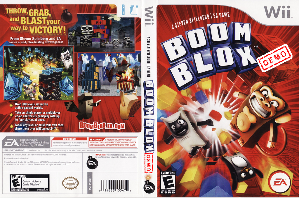Boom Blox (Demo) Wii coverfullHQ (DBKE69)