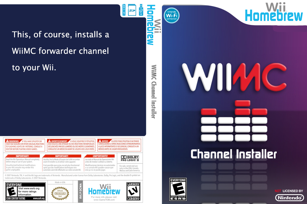WiiMC Channel Installer Wii coverfullHQ (DCWA)