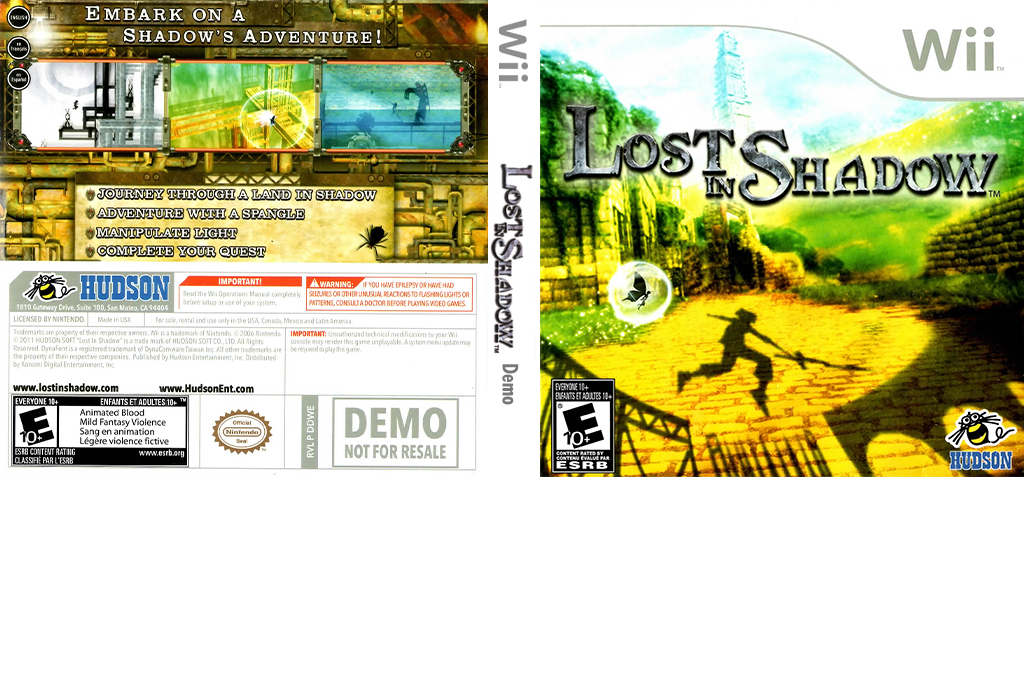Lost in Shadow - Press Disc (Demo) Wii coverfullHQ (DDWE18)
