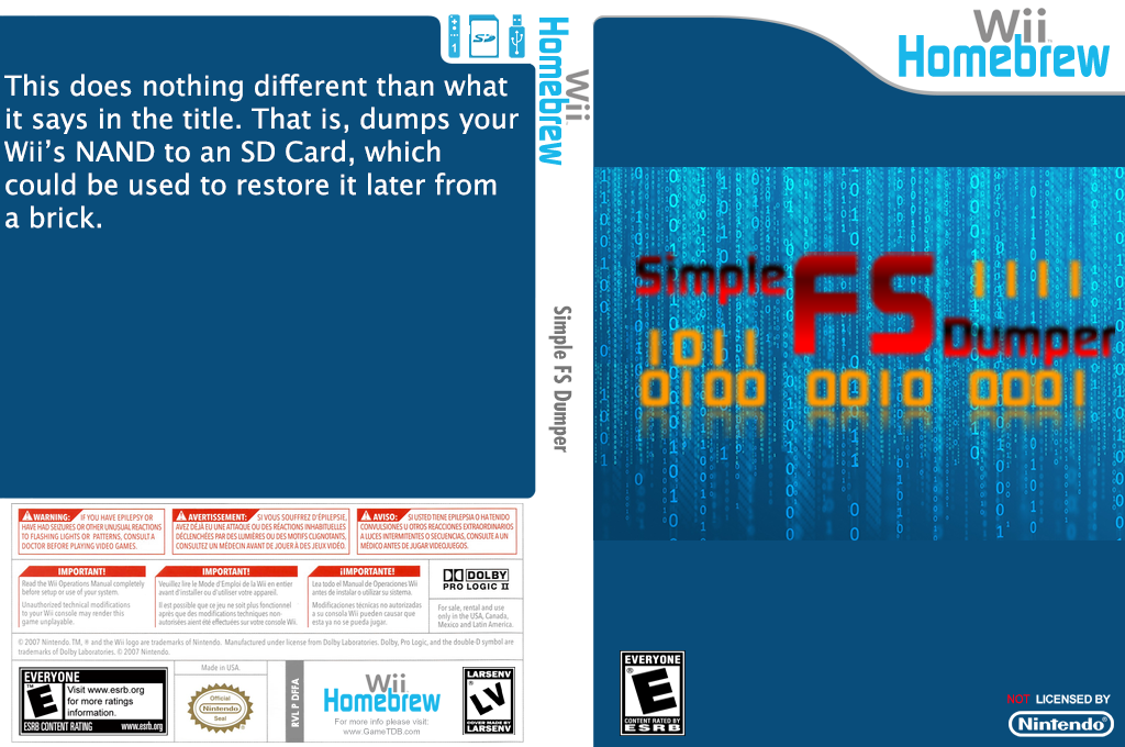Simple fs dumper Wii coverfullHQ (DFFA)