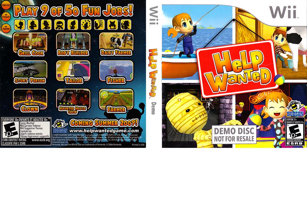 Help Wanted: 50 Wacky Jobs (Demo) Wii coverfullHQ (DHKE18)