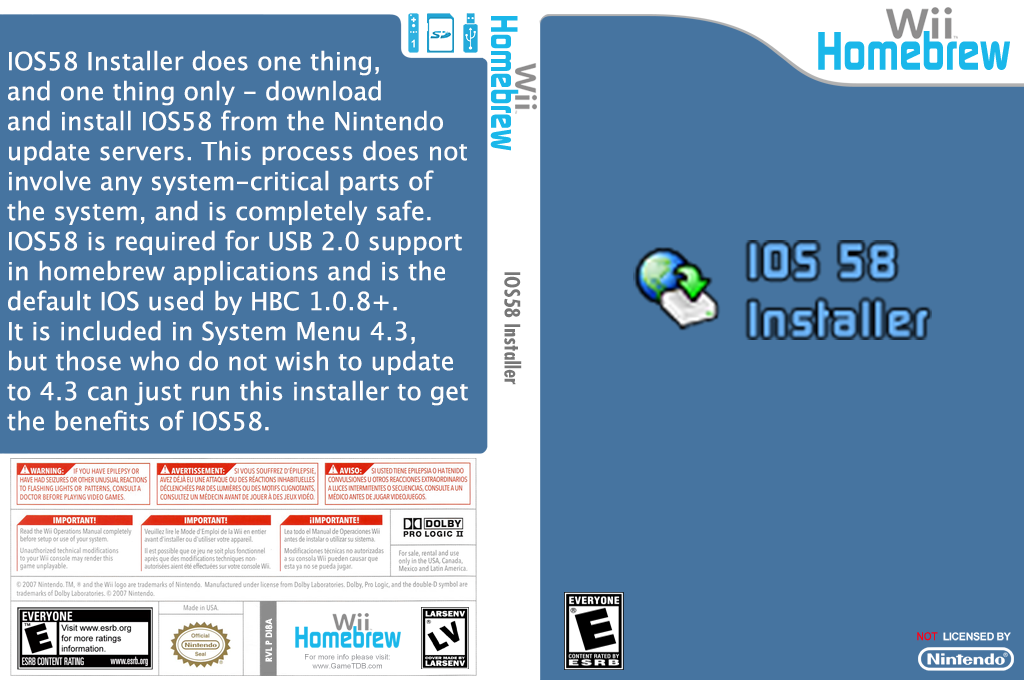 IOS58 Installer Wii coverfullHQ (DI8A)