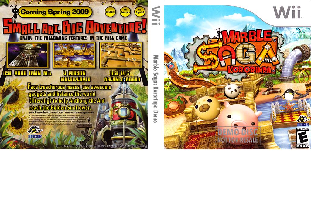 Marble Saga: Kororinpa (Demo) Wii coverfullHQ (DK6E18)
