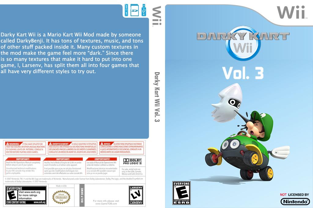Darky Kart Wii Vol. 3 Wii coverfullHQ (DKWE03)