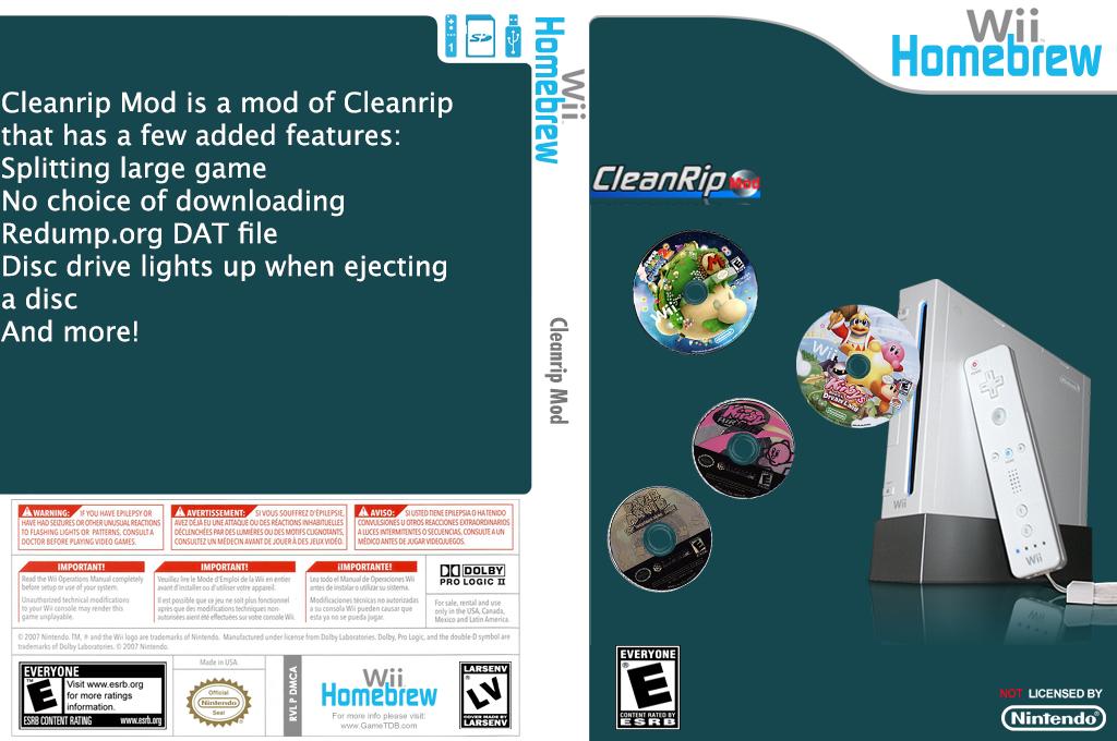Cleanrip mod Wii coverfullHQ (DMCA)