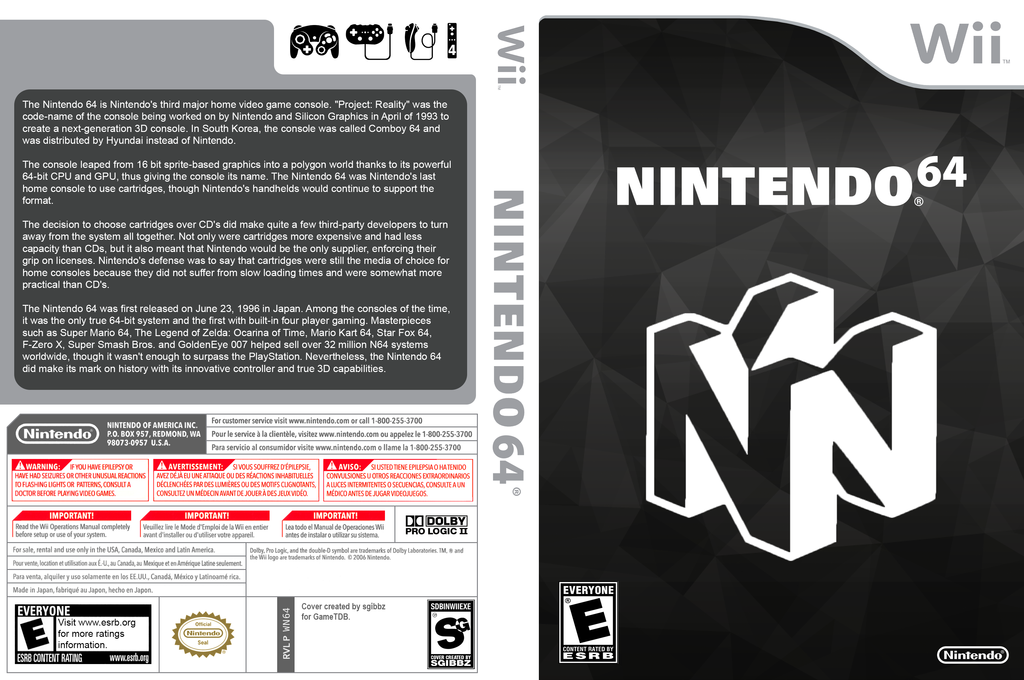 Not64 Wii coverfullHQ (DN6A)