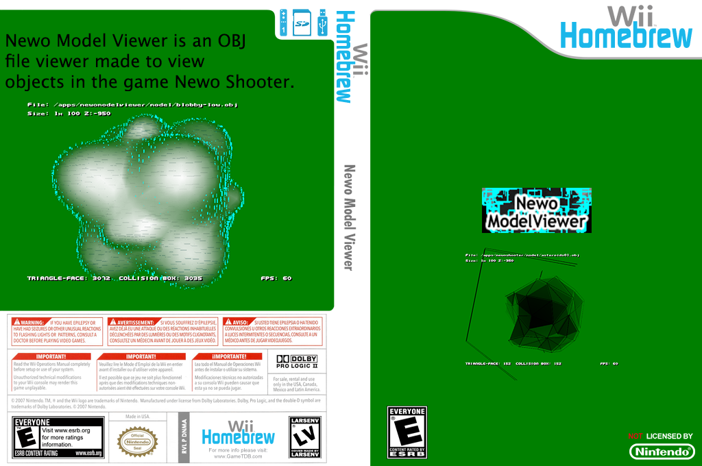 Newo Model Viewer Wii coverfullHQ (DNMA)