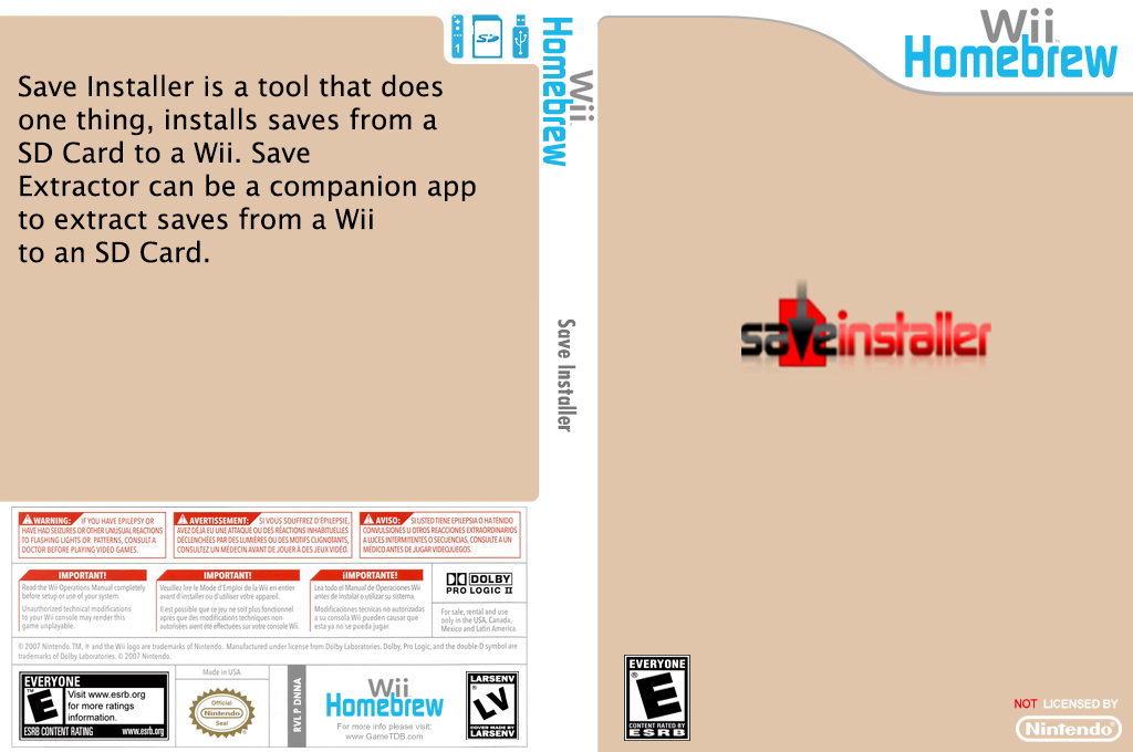 Save installer Wii coverfullHQ (DNNA)