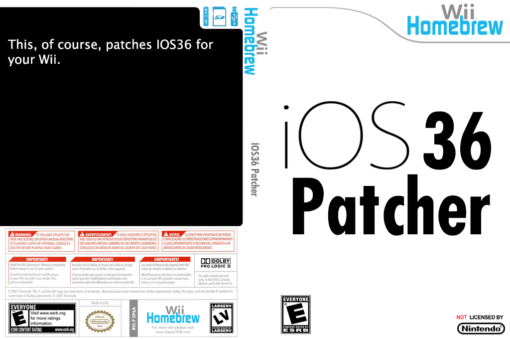 IOS36 patcher Wii coverfullHQ (DP6A)