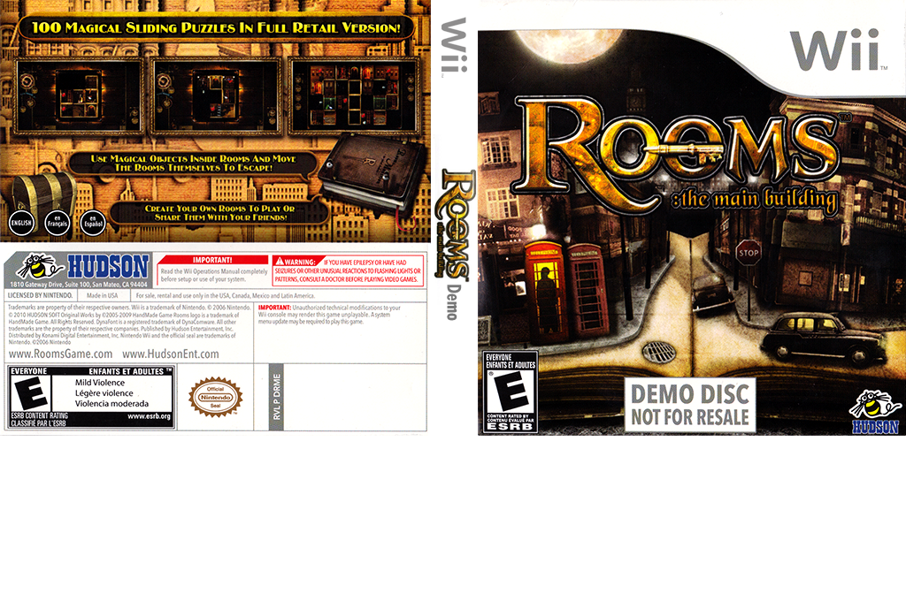 Rooms: The Main Building (Demo) Wii coverfullHQ (DRME18)