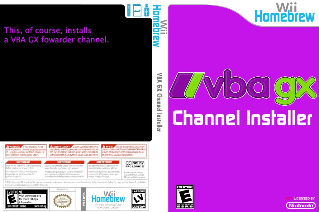 Vbagx Channel Installer Wii coverfullHQ (DVIA)