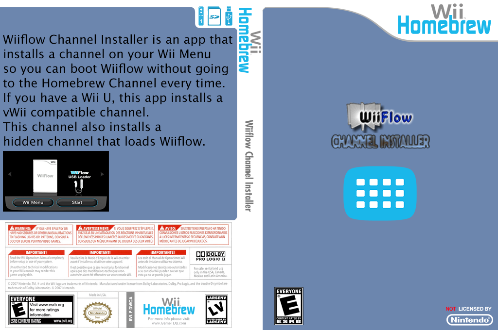 WiiFlow Channel Installer Wii coverfullHQ (DWCA)