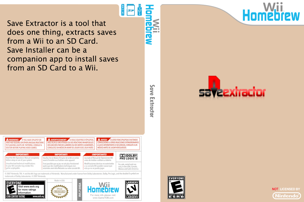 Save Extractor Wii coverfullHQ (DXSA)