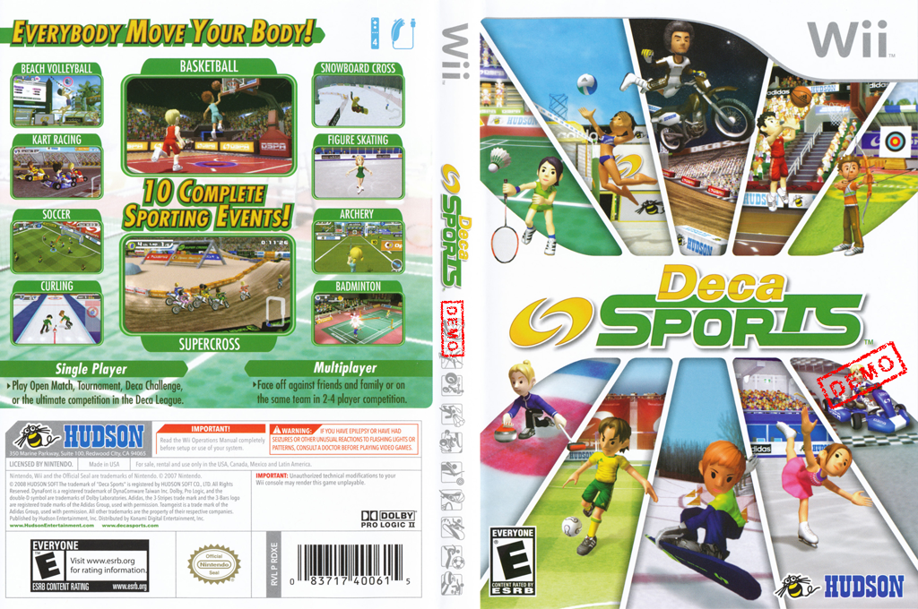 Deca Sports (Demo) Wii coverfullHQ (DXSE18)