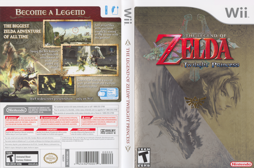 The Legend of Zelda: Twilight Princess (Demo) Wii coverfullHQ (DZDE01)