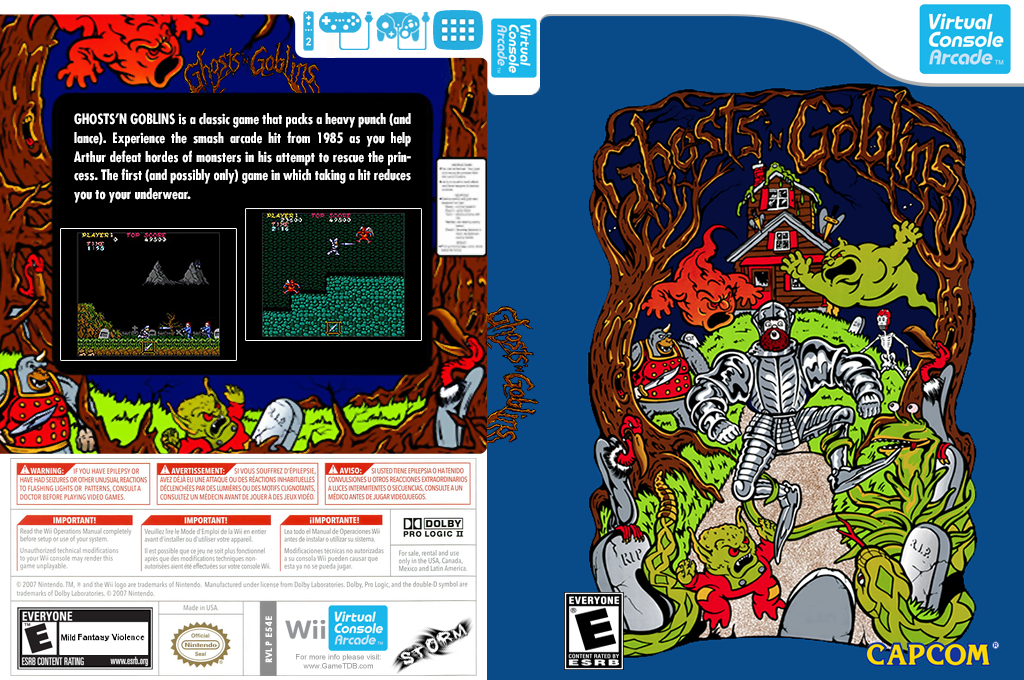 Ghosts 'n Goblins Wii coverfullHQ (E54E)