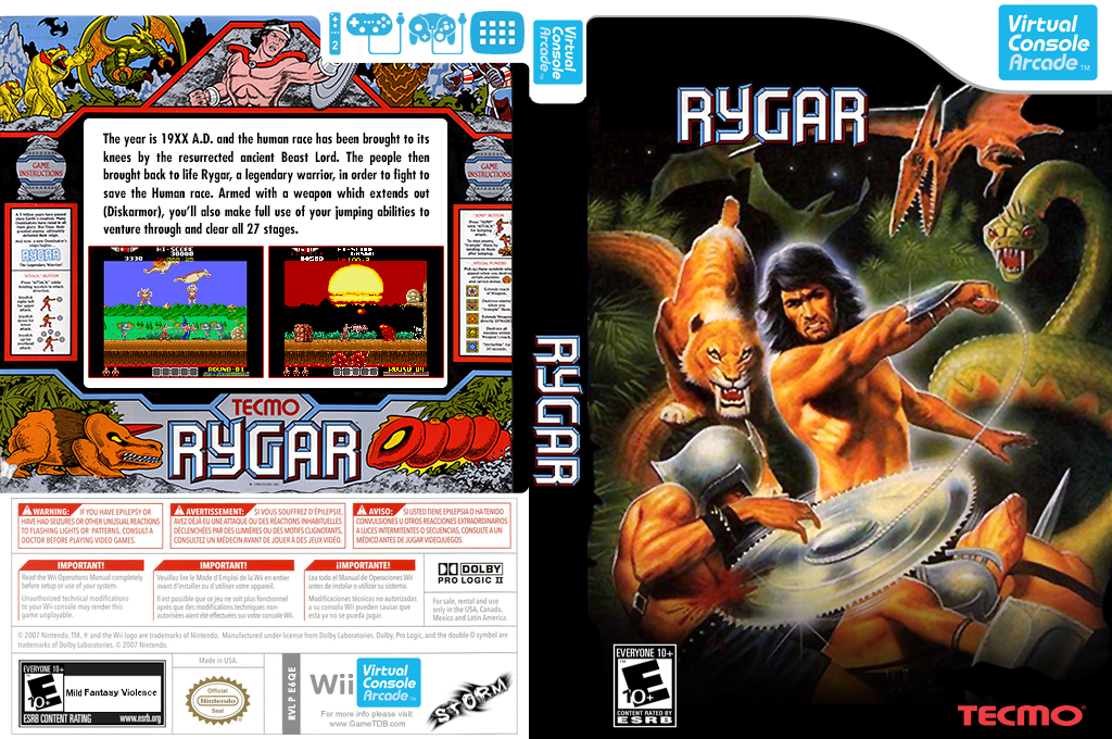 Rygar Wii coverfullHQ (E6QE)