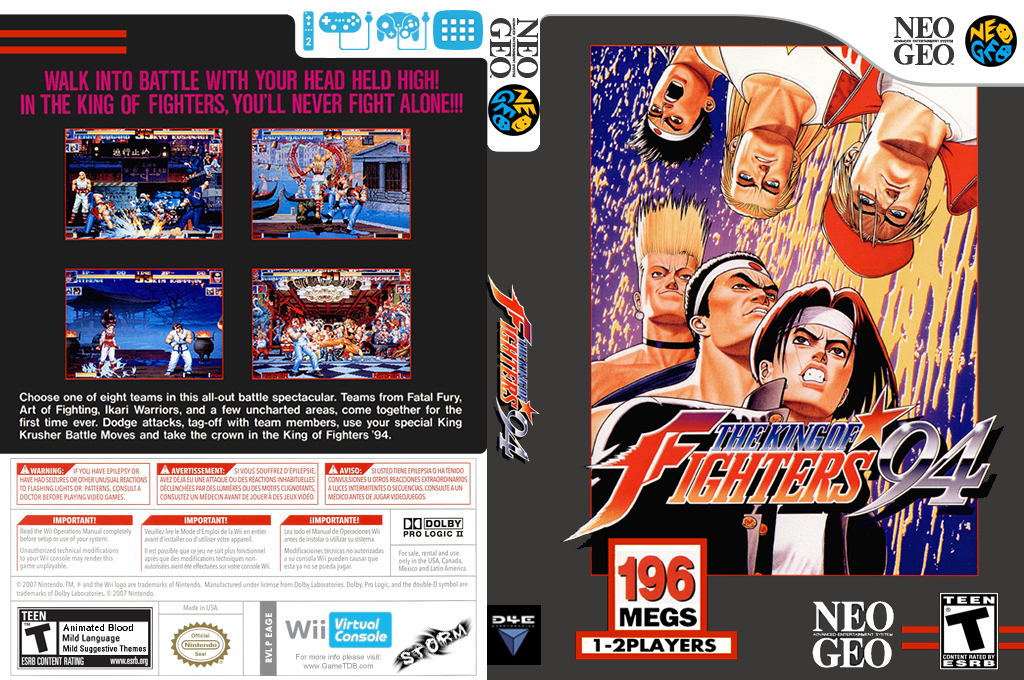 The King of Fighters '94 Wii coverfullHQ (EAGE)